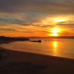 Maravilloso amanecer de sur. Tres escenas de la bahía