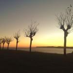 Miradas otoñales de un amanecer con vistas