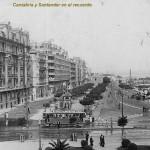 Castelar y Puertochico cuando los tranvías circulaban por Santander