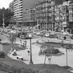 La calle Burgos cuando los coches circulaban por ella