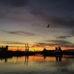 Amanecer mirando al puerto de Santander