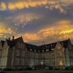 Cielo cambiante mirando al palacio de la Magdalena