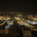 Santander ferroviario en modo nocturno