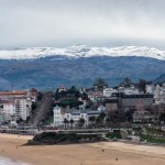 Playa y nieve se dan la mano. Santander es testigo