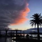 Amanece con las nubes a dos colores