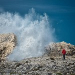 El espectáculo de las olas en la Virgen del Mar