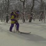 Disfrutando del esquí en los bosques de Campoo