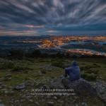 Santander a media luz desde Peña Cabarga