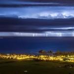 El tormentón de ayer frente a la costa de Liencres