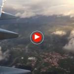 Así aterrizamos hoy en Santander, entre nubes y claros
