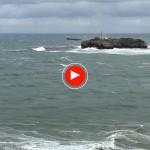 Salir de la bahía de Santander un día de temporal