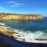 La playa de Mataleñas. Tres puntos de vista en un día azul intenso