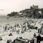 Santander cuando la playa de los Peligros estaba inundada por la bahía