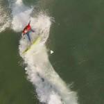 Somo, dron, surf, Cantabria