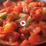 Así se hace el tomate frito de Cantabria en casa de El Tomavistas