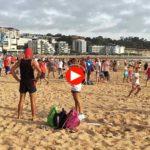 Record mundial de palas. Mil personas jugando a la vez en el Sardinero
