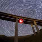 Una noche mirando al cielo desde el viaducto del Hayal