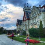 Correr por los jardines de palacio