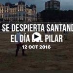Así se despierta Santander el día del Pilar