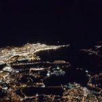 Santander nocturno desde el aire y en diferentes perspectivas