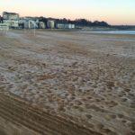 Levantarse con escarcha en las playas de El Sardinero