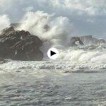 El temporal visto desde la Virgen del Mar