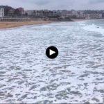 La mar está de mantos blancos