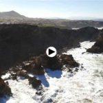 Costa Quebrada a vista de dron, días después de que el temporal se llevase la punta de las gaviotas