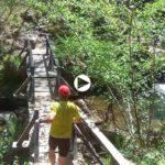 Corriendo por las cascadas de Lamiña