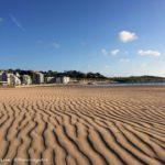 Los efectos del nordeste en la arena del Sardinero