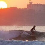 Surf en Somo al atardecer