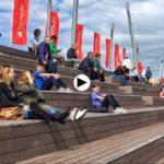Primera jornada de regatas de la Copa del Mundo de Vela desde la duna de Zaera