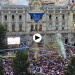El chupinazo de la Semana Grande de Santander 2017. ¡Felices Fiestas!