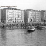 Santander cuando los barcos atracaban en pleno Paseo Pereda
