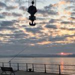 Un tímido amanecer otoñal en la bahía de Santander