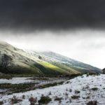 Maravillosas estampas de una nevada otoñal