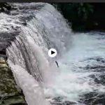 Así da gusto ver bajar los ríos de Cantabria y las truchas saltar