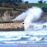 Bruno golpeando la costa de Santander con toda su potencia