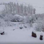 35 centímetros de nieve en Olea y hoy seguirá cayendo todo el día