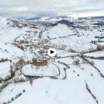 El castillo de Argüeso bajo la nieve. ¡Vaya paisaje!