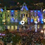 Hasta fuegos artificiales en el encendido de las luces navideñas de Santander