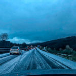 Tremenda granizada en la autovía Santander-Torrelavega