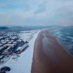 El Puntal y Somo nevados a vista de pájaro
