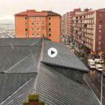 El granizo llega a Santander el último día del invierno