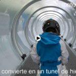 El túnel de hielo de Alto Campoo