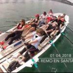 Remando en la bahía de Santander