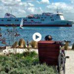 El ferri de Cork navega, por primera vez, por la bahía de Santander