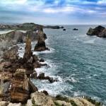 Vestigios de la antigua costa