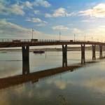 El puente de la ría de Cubas, el gran salto entre Pedreña y Somo