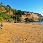 Planchando la playa de Mataleñas